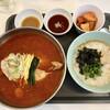 Nibunnoichi - 料理写真:『赤半鶏湯(ユッケジャン風)セット』様(1000円)※税込。