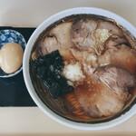 145337396 - ロース並チャーシュー麺と味玉