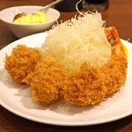 旬香亭 - 牡蠣フライと 海老フライ