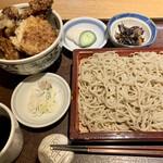 蕎庵 卯のや - 車海老天丼膳 1350円