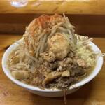ラーメン 池田屋 - 料理写真:ラーメン小(にんにく普通野菜マシマシ脂マシカラメ)♪