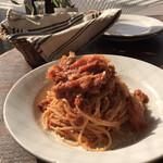 カプチーニ - ランチパスタ 国産豚肩ロースと大根のトマト煮込みソーススパゲティ