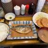 ずぼら - 料理写真:鯖味噌定食+ロースハムカツ