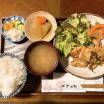 六曜館珈琲店 - 本日のランチチキンソテーハーブ風味