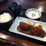 一久 - 日替わりランチ(チーズメンチカツデミソース)