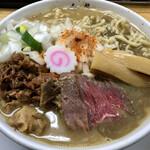麺屋 白神 - 牛ニボ(雑炊付き)990円