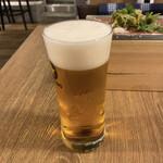 肉バル ガブット - サッポロ黒ラベル生ビール♪