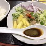 ペナンレストラン - アッサムラクサ(税込980円:小ライス、デザート付き)