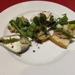 オリゾンテ - 野菜、チキン、鯖の前菜