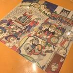 145394092 - テーブルに挟まれてるシチリア感のある絵