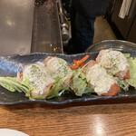 広島風お好み焼 伊豆川 - トマト肉巻き