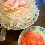 居酒屋もんじゃ・さくら - トマト鍋もんじゃ790円