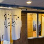 145412827 - 大きな千鳥紋の暖簾が愛らしい雰囲気です。
