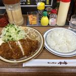 Kicchinnankai - ひらめフライ+しょうが焼きライス