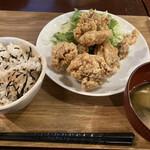 黒川食堂 - から揚げ定食