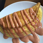 ジャパン キッチン アキバ - 洋食モーニング1980円。ふわふわオムレツ。メレンゲと卵黄を合わせたオムレツは、その名の通りふわふわで、とても美味しかったです(╹◡╹)