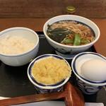 信州屋 - モーニングセット・かけ(400円)