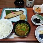 京粕漬 魚久  - カレイの味噌漬け定食