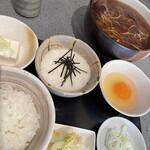 うさぎ庵 - 料理写真:とろろご飯セット ¥970  今日は温かいお蕎麦