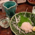 だい人 - 日本酒とシロエビ刺身
