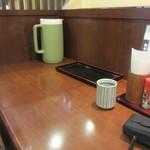 驛亭 - ランチ時に私は一人だったんでカウンターを利用させていただいてランチです。