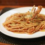 ウィンクル - 料理写真:トマトソースのスパゲッティ カニ 130㌘☆