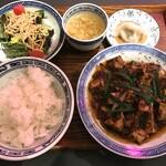 Sawadahanten - 麻婆豆腐セット 1200円(税抜)