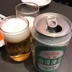 Sawadahanten - 台湾金牌ビール 600円(税抜)