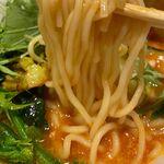 空と大地のトマト麺 Vegie  - 9種野菜のトマト麺の麺