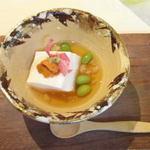 14544184 - 本葛豆腐と生雲丹の海老餡掛け