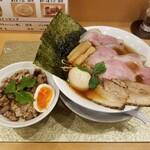 145441851 - 地鶏醤油らーめん(特製 / あぶりちゃー丼セット)