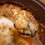 伽哩本舗 - 牡蠣が3粒入っていました。