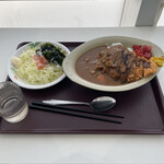 鮫洲運転免許試験場 食堂 - 2021.2 カツカレー 810円、サラダ 160円