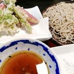 しらいし - 料理写真:牡蠣と野菜の天ざる