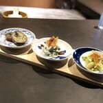 食堂 ぎんみ - 季節の前菜3種