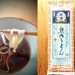 蒲菊本店 - 残った煮汁でシメのうどん!奈良屋から仕入れた乾麺で!つるもちうどんの釜揚げ!相性抜群!