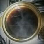 蒲菊本店 - 900ccのお湯で割った濃縮煮汁!一寸先は漆黒の闇やー!しかしダシが効いた良い香り!