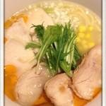 ささりんどう - 全部のせ 鶏ポタらあめん(並) 950円  低加水麺をチョイス
