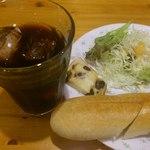 名岐屋 - ロールパンのモーニング