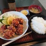 お食事処 一福亭 - 唐揚げ定食(¥920)