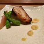 145470791 - 鰆の西京焼き 獅子唐と酢取り茗荷 白味噌