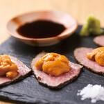 ◆2月限定・~ワインビーフの霜降り特上カルビ&無添加天然・生ウニ~極上う肉!◆