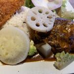 Roji菜園テーブル - おとうふ入りハンバーグ
