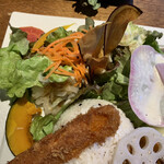 Roji菜園テーブル - にんじんフライと彩り野菜