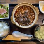 醤 - 料理写真:「麻婆豆腐定食(辛め)」@980(税込)