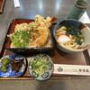 手打 やすえ - 料理写真:ミニうどん付き天重¥800
