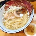 145504298 - 鶏そば 塩のほうへ・味玉&イベリコ豚チャーシュー増し