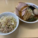 145509892 - 【2021.1.20】濃口煮干鰮特製らーめん1500円+ネギチャー丼350円