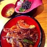 はやし水産 - 20120829◆マグロ丼、海鮮天丼