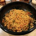一平や - 元祖広島まぜ麺(唐辛子)(温)(混ぜ後)